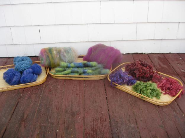 Yarn, Batts, Rolags and Locks