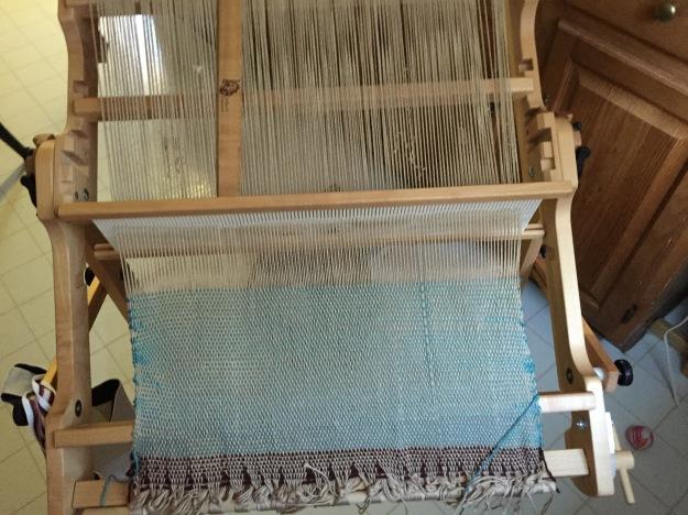dish towels on loom Dec 2015