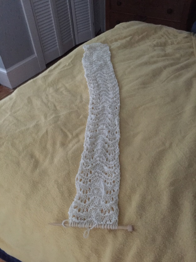 scarf gift on needles Dec 2015
