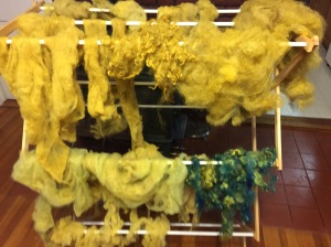 wool dyed with marigolds