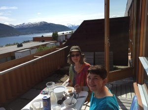 becky and laura at her condo norway 2015